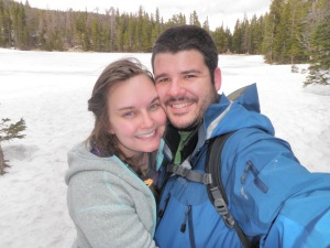 us hiking in Rocky Mountain National Park. One of those where we BOTH look good...a rarity