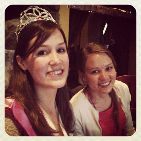 the beautiful bride-to-be and our friend--a bride-to-be in October! It's truly an epidemic.